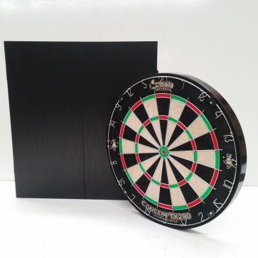 New Concept TX290 DARTBOARD & Black Ash Finish CABINET & Six DARTS