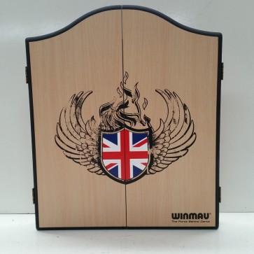 Winmau Union Jack Dartboard CABINET
