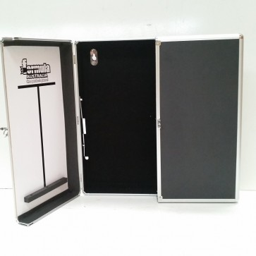 Dartboard CABINET - Black with Aluminium Trim Finish