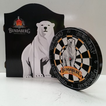 Bundaberg Rum Premium DARTBOARD with CABINET - OLD