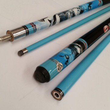 """Illusion"" 2 Pce GRAPHITE Pool Snooker Billiards 57"" CUE - Dolphin"