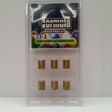 Brass Ferrule (Screw On) x 6 9mm