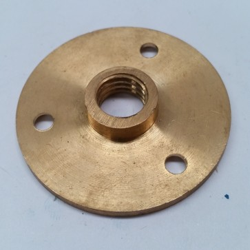 "Small FIXING PLATE FLANGE TABLE FEET - 4cm with 3/8"" Thread"