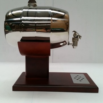 FOUR LITRE LIQUOR STAINLESS STEEL BARREL WITH DRIP TRAY