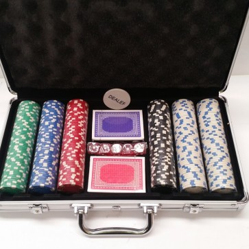 300 PIECE POKER GAME SET ALUMINIUM CASE