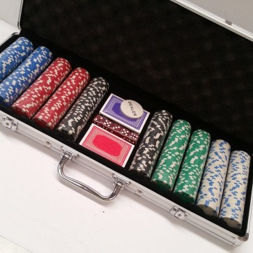 500 Piece POKER GAME Set ALUMINIUM CASE