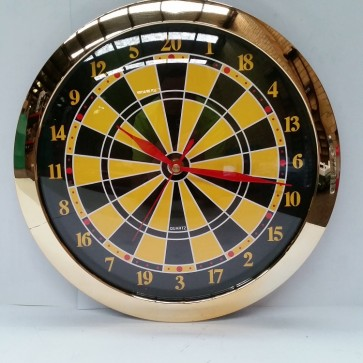 Dart Board Pool Room WALL CLOCK