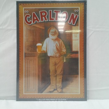Carlton Ale Sam Griffin Vintage Tin Sign