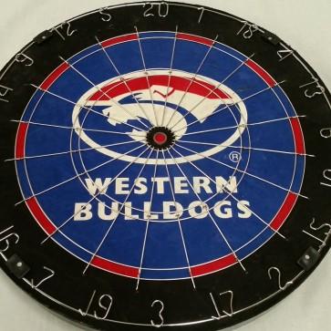 AFL Licensed DARTBOARD (OLD) - Western BULLDOGS