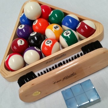 "Eddie Charlton KELLY POOL BALL Set 2"" & Accessories"