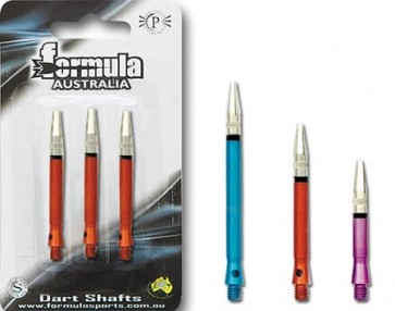 Alloy Coloured Gyro Shaft Medium Dart Shaft Set of 3