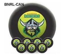 NRL Licensed POOL BALLS - 7 Ball Pack - Canberra RAIDERS