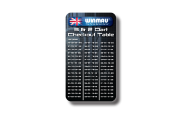 Winmau Dart CHECKOUT Table Pocket Size