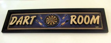 DART ROOM Three Dimensional SIGN 60 cm x 16 cm x 1.5