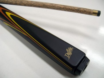 "Dufferin Ash 2 Pce Pool Snooker Billiards 57"" CUE - Orange and Yellow Flame"