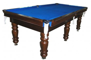 Charlton Professional Slate Pool Table Walnut 8F Blue