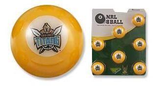 NRL Licensed POOL BALLS - 7 Ball Pack - Gold Coast TITANS