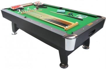 Charlton 7Foot Pool Snooker Table & THE LOT Green