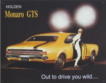 Australian Cars & Transport Holden Monaro GTS Tin Sign