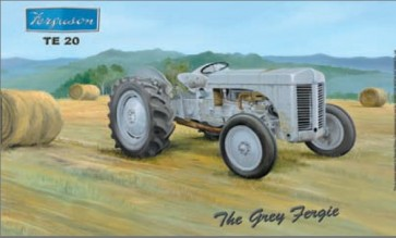 Australian Cars & Transport The Grey Fergie TE 20 Tractor Tin Sign