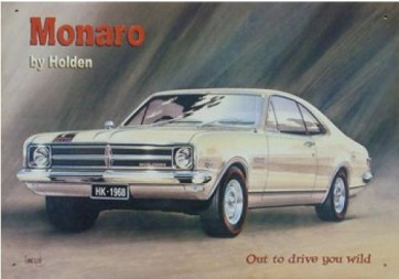 Australian Cars & Transport 1968 Holden HK Monaro Tin Sign