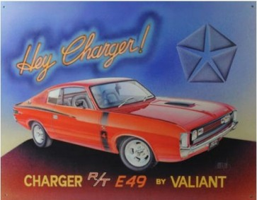 Australian Cars & Transport Chrysler Valiant E49 Charger Tin Sign