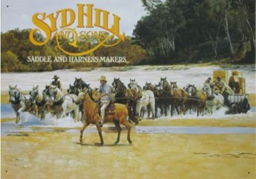 Australian Heritage Series Syd Hill & Sons Horses Tin Sign