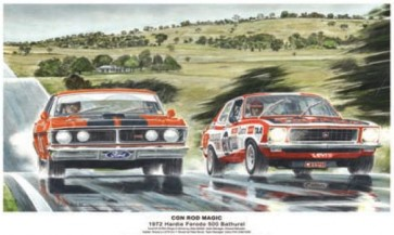 Australian Cars & Transport Con Rod Magic 1972 Hardie Ferodo Tin Sign