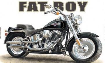 Australian Cars & Transport Harley Davidson Fat Boy Tin Sign