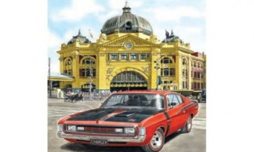 Australian Cars & Transport Dodge Charger at Flinders Street Tin Sign