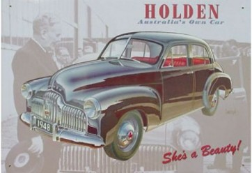 Australian Cars & Transport 1948 FX Holden Tin Sign
