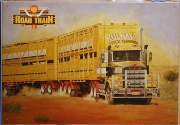 Australian Cars & Transport Road Train Truck Tin Sign