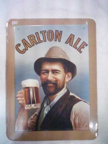 Carlton Ale Vintage Tin Sign