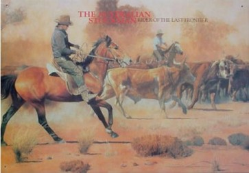 Australian Heritage Series Australian Outback Stockman Horse Tin Sign