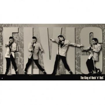 Elvis Presley King Montage Tin Sign