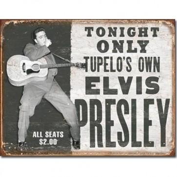 Elvis - Tupelo's Own - Tin Sign