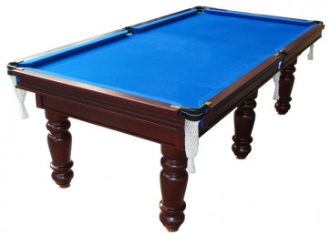 Charlton Professional Slate Pool Table Mahogany 8F Blue
