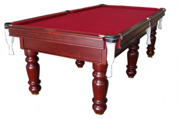 Charlton Pro Slate 6 legPool Table Mahogany Burgundy 8F