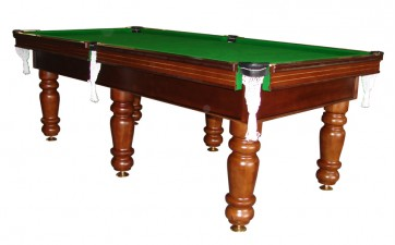 Charlton Pro Slate 6 leg Pool Table Walnut 7F Green
