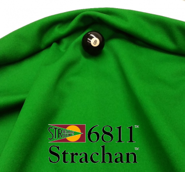 STRACHAN 6811 English Pool Snooker Billiards CLOTH 7ft x 3.6ft - GREEN