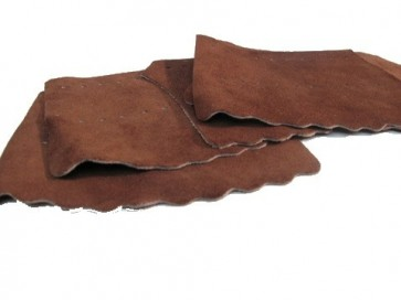 Set of Six Leather Billiards Pool Snooker POCKETS - TAN