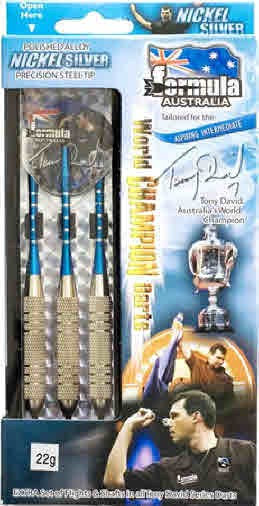 Nickel Silver DARTS - Tony David - Boxed Set 18gr