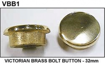 Single Victorian BOLT BUTTON - 32mm - BRASS
