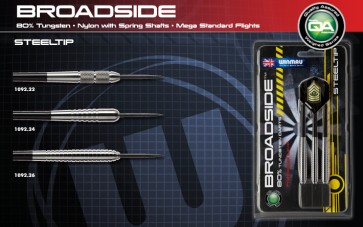 Winmau Broadside 80% TUNGSTEN DARTS - Set Of 3 - 22gm