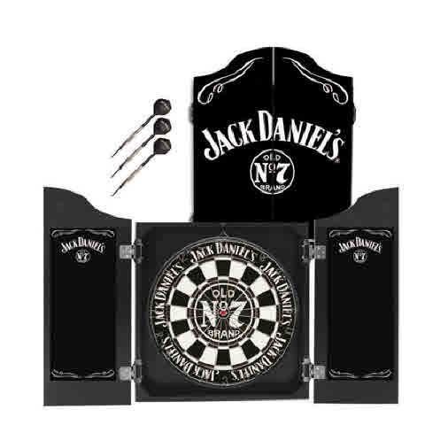 Licensed Jack Daniels - Dartboard and Cabinet Set Darts Dart