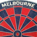 Official Licensed Afl Melbourne Demons Dartboard