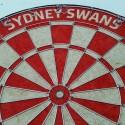 Official Licensed Afl Sydney Swans Dartboard