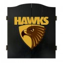 Official Licensed Afl Hawthorn Hawks Dartboard Cabinet
