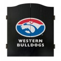 Official Licensed Afl Western Bulldogs Dartboard Cabinet