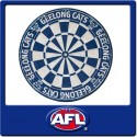 Official Licensed Afl Geelong Cats Dartboard